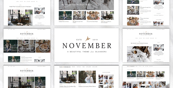 November - A WordPress Blog Theme