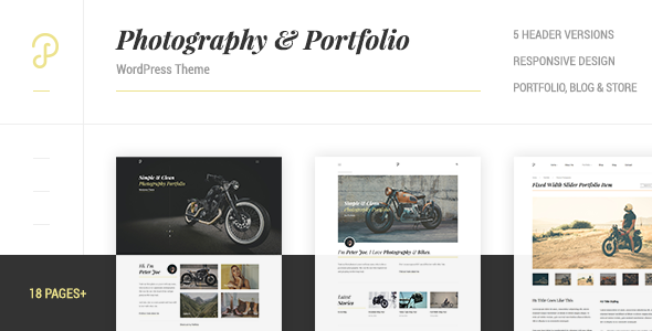 P Dojo - Photography and Portfolio WordPress Theme