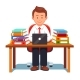Business Man Working and Learning - GraphicRiver Item for Sale