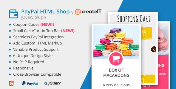jQuery Paypal HTML Shop