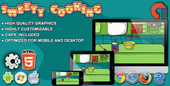 Sweety Cooking:Chocolate Cake-HTML5 Construct 2 Game Download