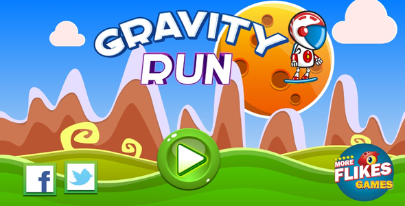 Gravity run - HTML5 game. Construct 2 (.capx) + mobile Download