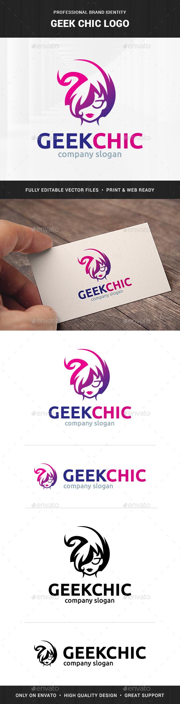 Geek Chic Logo Template