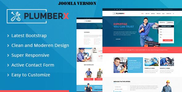 Plumberx - Plumber and Construction Joomla Template