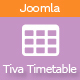 Tiva Timetable For Joomla - CodeCanyon Item for Sale