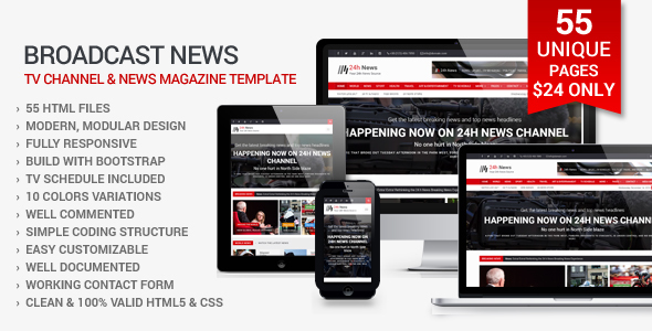 24h News I Magazine HTML Template