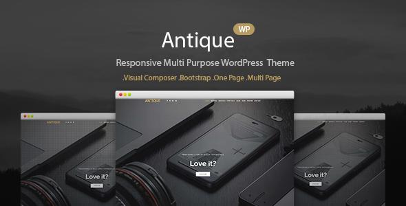 Antique – Personal Onepage WordPress Theme Free Download