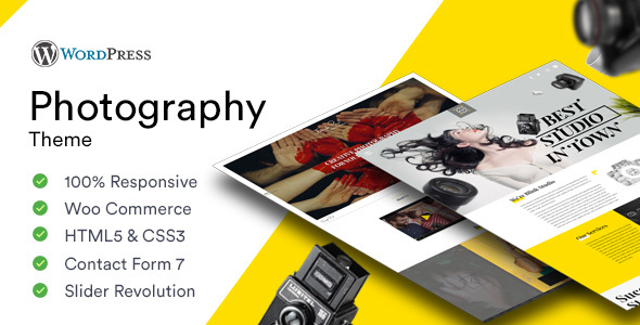 Photography - Photoshoot and Videography Responsive WordPress Theme