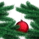 Red Ball and Christmas Tree - GraphicRiver Item for Sale