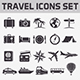 Travel Vector icons set - GraphicRiver Item for Sale