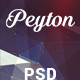 Peyton - Creative One Page PSD Template - ThemeForest Item for Sale