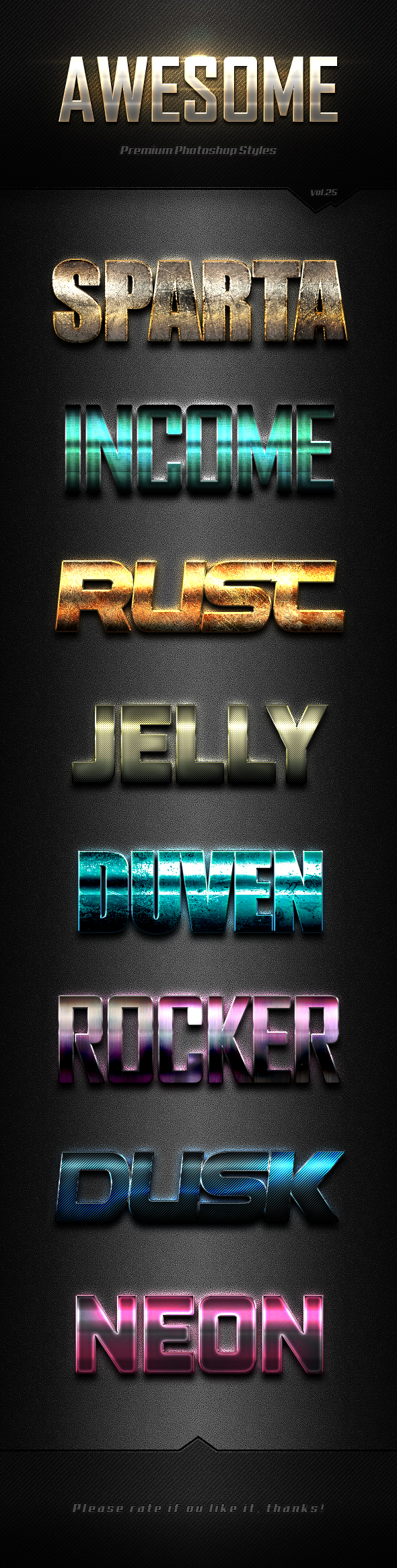 Photoshop Text Effects Vol.25