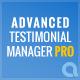 Advanced Testimonials Manager Pro WordPress Plugin - CodeCanyon Item for Sale