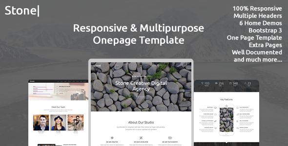 Stone - Responsive Multipurpose One Page Template