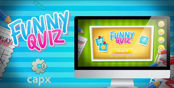 Funny Quiz HTML5 Game with Capx