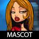 Mafia Girl Cartoon Mascot - GraphicRiver Item for Sale