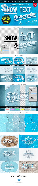 The Snow Text Generator