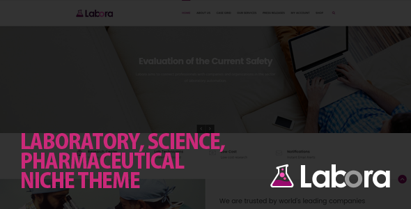 Labora - Business, Laboratory & Pharmaceutical WordPress Theme