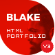 BlakeD - Portfolio & Resume Template - ThemeForest Item for Sale
