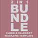 2 in 1 Clean & Ellegant Magazine Template - GraphicRiver Item for Sale