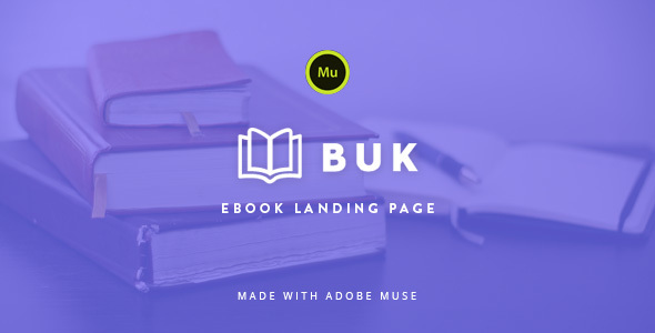 Buk - EBook Landing Page Muse Template