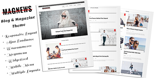 Magnews - Clean Blog and Magazine Theme