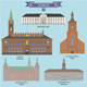 Famous Places in Denmark - GraphicRiver Item for Sale