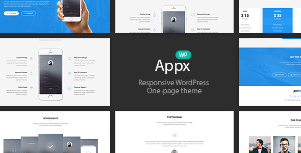 Appx - Mobile App Showcase WordPress Theme