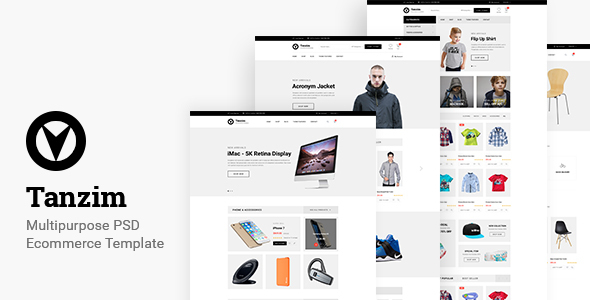 Tanzim - eCommerce PSD Template