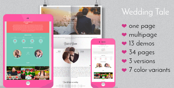 Wedding Tale - Responsive HTML Template