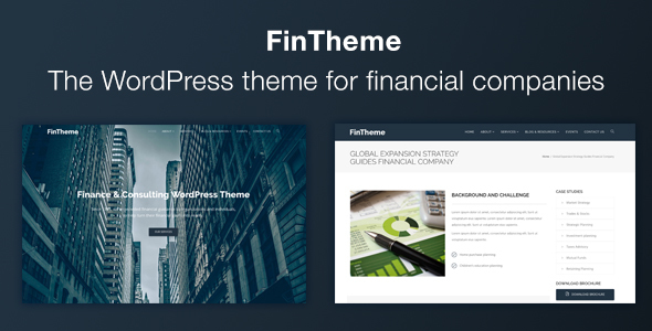 FinTheme - Finance & Consultants WordPress Theme