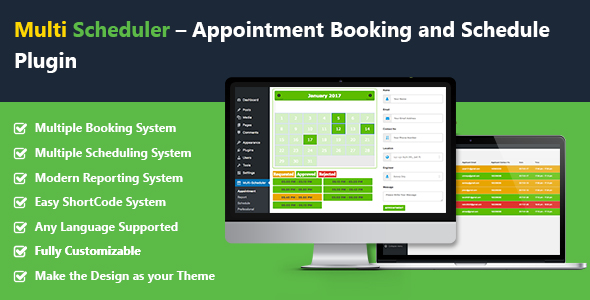 Multi Scheduler – Appointment Booking and Schedule with Multi Booking Plugin