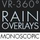 Rain Overlays VR-360° Editors Pack (Monoscopic) - VideoHive Item for Sale