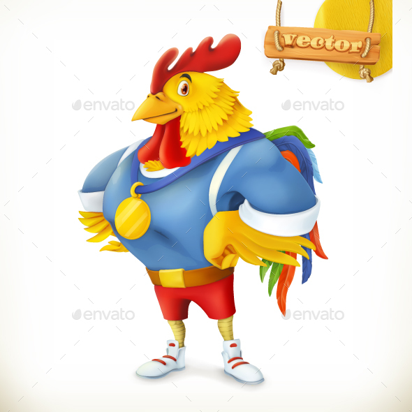 Rooster Animal 2017 Champion Athlete