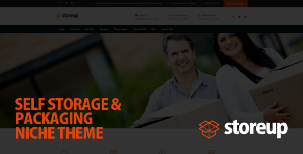 Storeup - Self Storage Business WordPress Theme