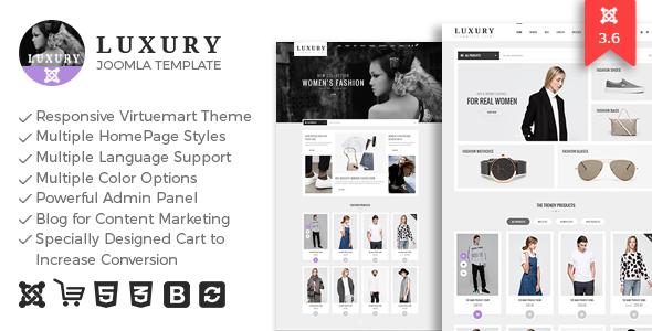 Luxury - Responsive Virtuemart Theme