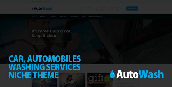 AutoWash - Car | Automobiles Washing WordPress Theme