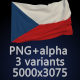 Flag of The Czech Republic - 3 Variants - GraphicRiver Item for Sale