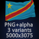 Flag of The Democratic Republic of the Congo - 3 Variants - GraphicRiver Item for Sale