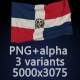 Flag of The Dominican Republic - 3 Variants - GraphicRiver Item for Sale