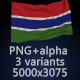 Flag of The Gambia - 3 Variants - GraphicRiver Item for Sale