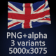 Flag of The United Kingdom - 3 Variants - GraphicRiver Item for Sale