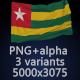 Flag of Togo - 3 Variants - GraphicRiver Item for Sale