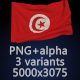 Flag of Tunisia - 3 Variants - GraphicRiver Item for Sale