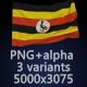Flag of Uganda - 3 Variants - GraphicRiver Item for Sale