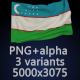 Flag of Uzbekistan - 3 Variants - GraphicRiver Item for Sale