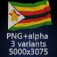 Flag of Zimbabwe - 3 Variants - GraphicRiver Item for Sale