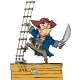 Brave Pirate is on Board the Ship - GraphicRiver Item for Sale