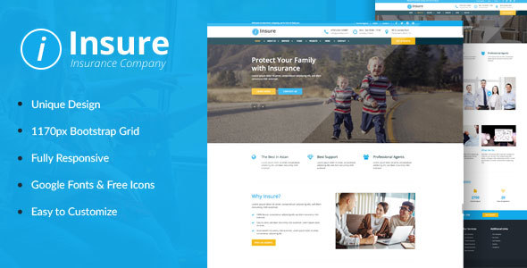 Insure - Insurance, Finance, & Business HTML Template