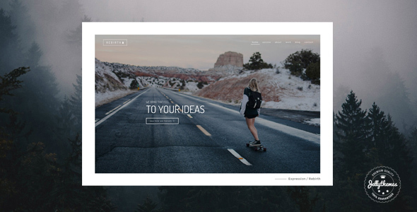 Rebirth - Freelance & Agency Portfolio WordPress Theme